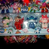 Детский набор робокар поли прорезиненные фигуры