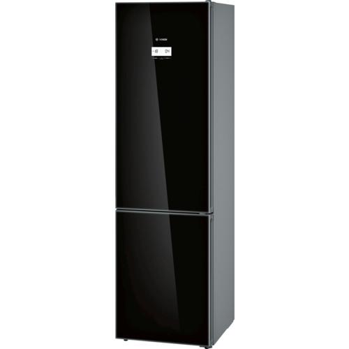 Черный холодильник отдельно стоящий с морозильником  Bosch KGN39LB35