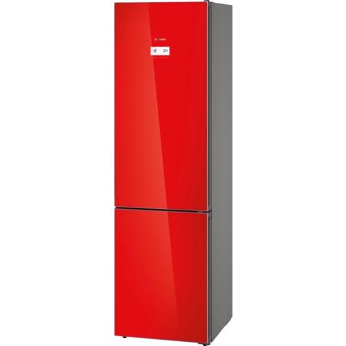 Красный холодильник отдельно стоящий с морозильником  Bosch KGN39LR35