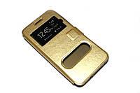 Чохол книжка Momax для Samsung Galaxy Grand Prime G530 золотистий