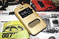 Чохол книжка Momax для Samsung Galaxy J1 Ace Duos моделі j110 золотистий, фото 1