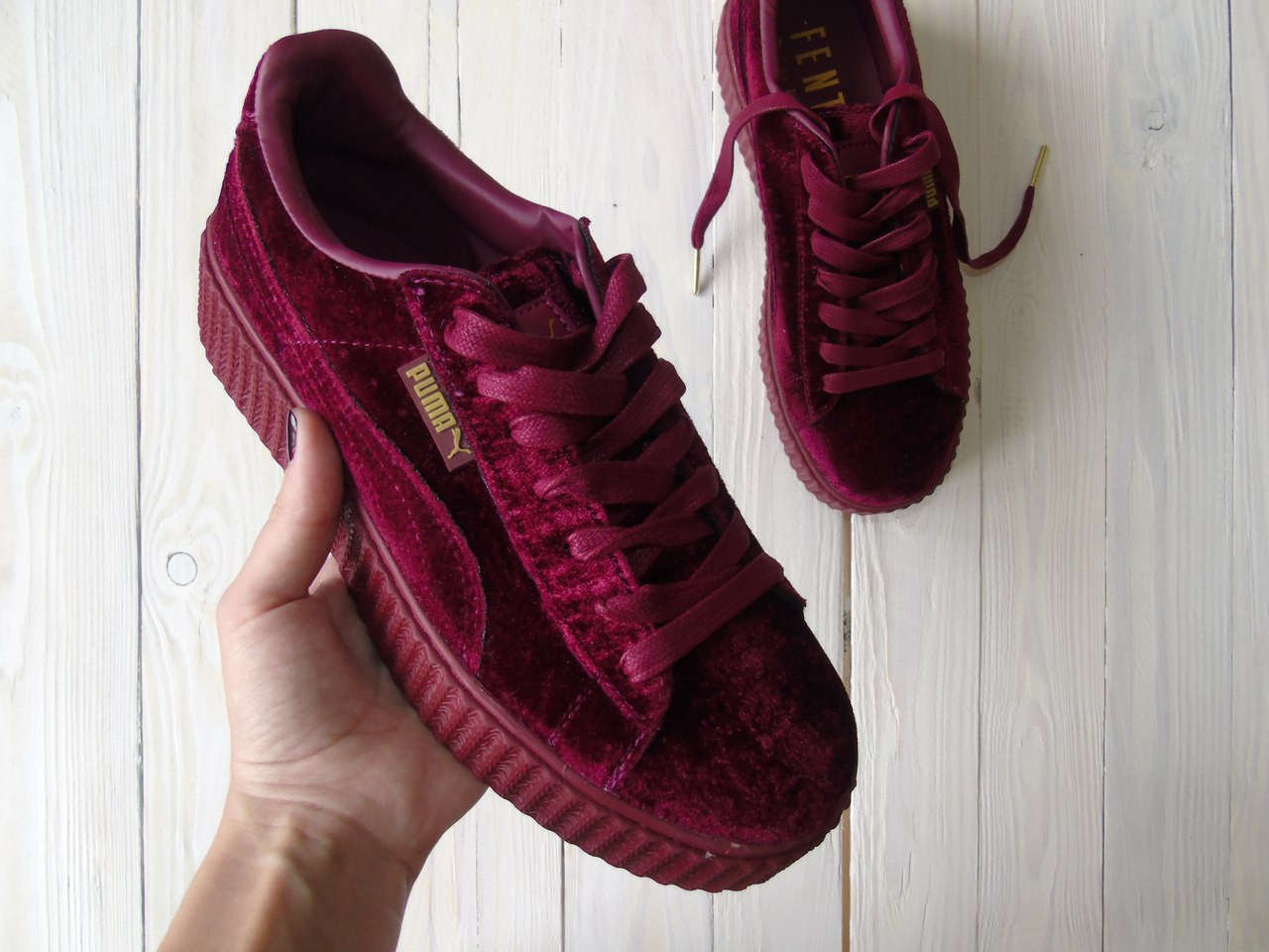 detailed pictures c9c11 a259c Кроссовки женские Puma x Fenty by Rihanna Velvet Creeper-Royal Purple(ТОП  РЕПЛИКА ААА+)