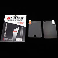 Защитное стекло Apple iPhone 4/4S 0.33mm 2.5D комплект 2pc