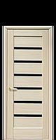 Двери межкомнатные ЛИННЕЯ С  СТЕКЛОМ (ПВХ DeLuxe)