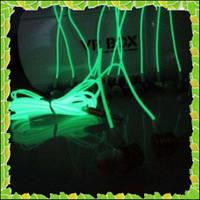 Неоновые светящиеся наушники с микрофоном 5 цветов
