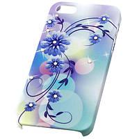 Пластиковая накладка Protective iPhone 5/5S blue flowers
