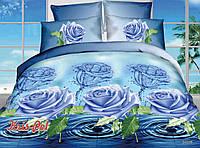 """Двуспальный комплект постельного белья  """"Голубая роза""""."""