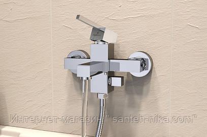 Смеситель Elghansa KUBUS 23A9741 для ванной однорычажный, хром,квадратный дизайн