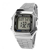 Наручные часы Casio, серебро (большие)