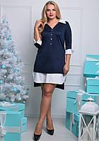 Женское платье рубашечного типа-большие размеры