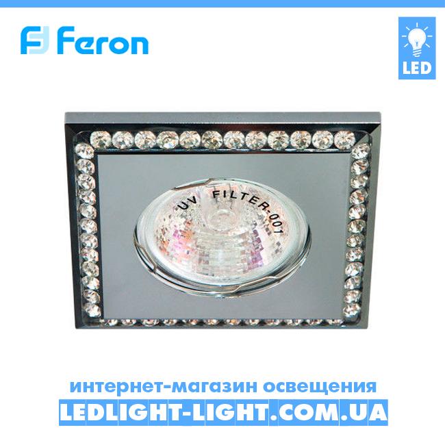 Врезной точечный светильник Feron  DL102-C стразы хром.