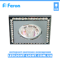 Врізний точковий світильник Feron DL102-C стрази хром.