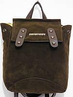 Рюкзак мини для вещей замш темный шоколад
