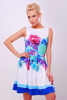 Летний букет голубой платье Мия-1 б/р