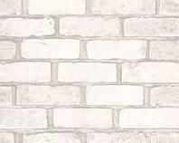 Обои виниловые супер мойка Кирпич 5522-06 белые, фото 1