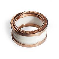 Мужское керамическое кольцо BVLGARI