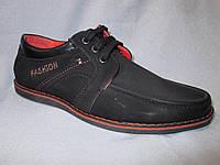 Туфли оптом детские 32-37 р., на шнурках, соранжевой строчкой и вышитой надписью, черный замш
