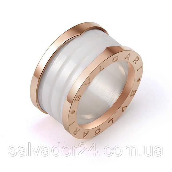 Женское керамическое кольцо BVLGARI (реплика) 15 размер
