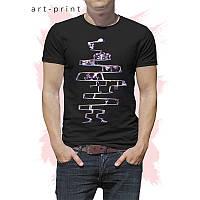 Чоловіча футболка бавовна чорний з принтом СКЕЛЕТ, фото 1
