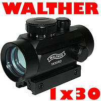 Коллиматорный прицел Walther 1x30RD с креплением 11мм и 21мм, Коллиматор