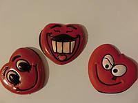 Магниты на холодильник сердце резиновое малое 4*4