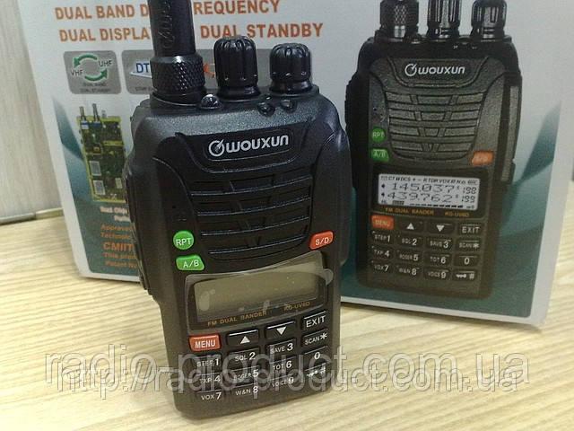 Wouxun KG-UV6D, 1700 mAh, двухдиапазонная радиостанция, рация (гарантия)