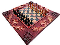 Шахматы-нарды ручной работы, фото 1