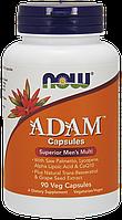 Adam Male multi, Мужской мультивитаминный комплекс, Men's Multiple Vitamin Veg Capsules 90сaps, NOW Foods