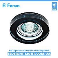 Врезной точечный светильник Feron  8080-2 стекло черный, фото 1