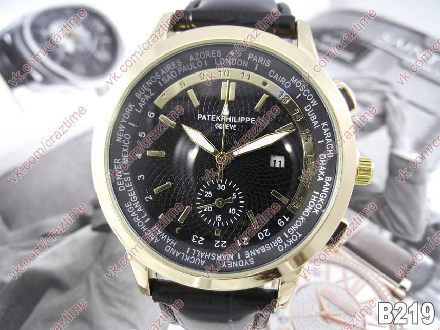 Мужские кварцевые наручные часы Patek Philippe B219 (470021537 ... 795096195bc