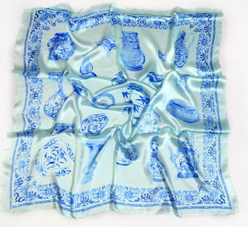 Сучасний жіночий хустку 90 на 90 Dress #740_5 блакитний