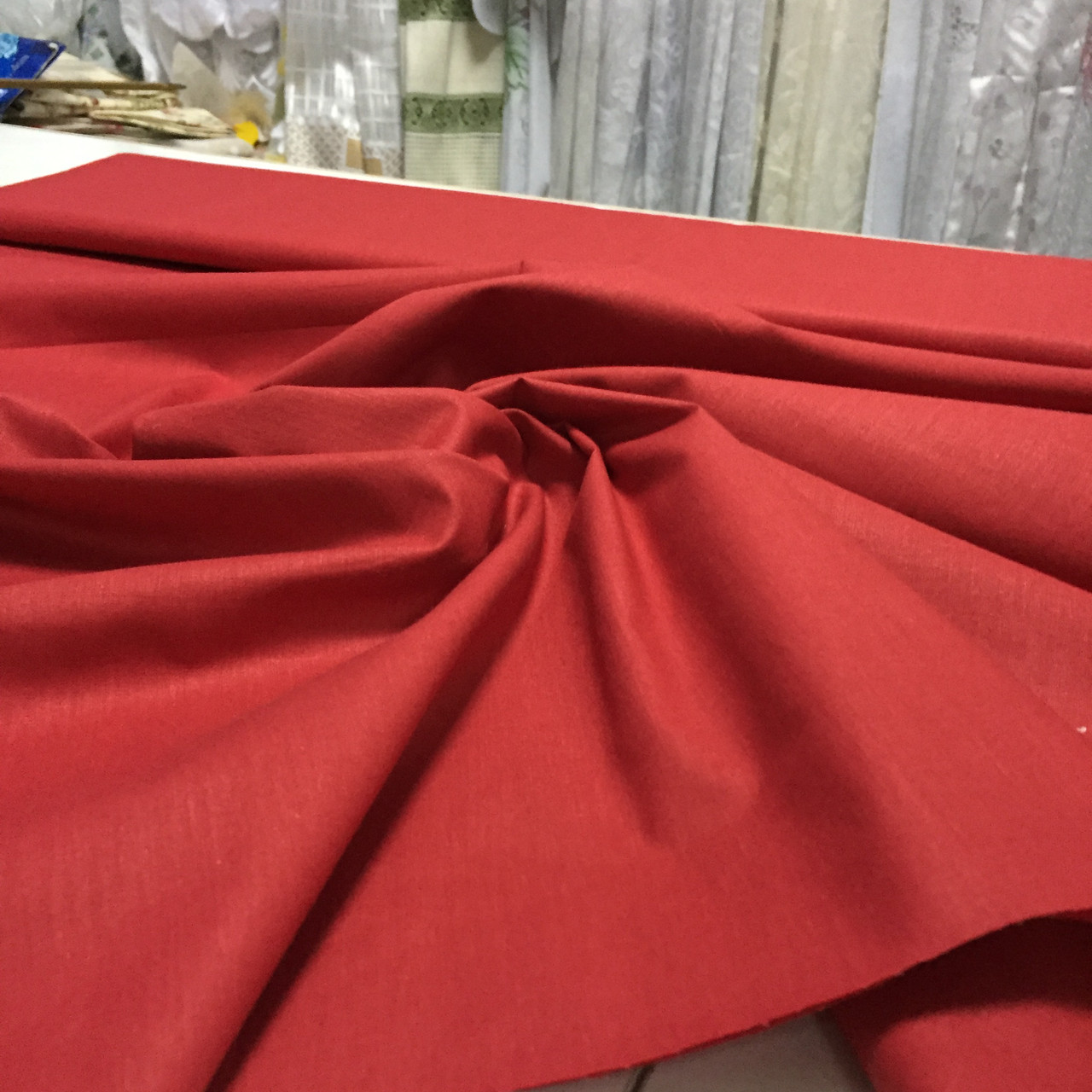 Бязь однотонная красная ширина 150 см, фото 1