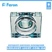Врезной точечный светильник Feron  8180-2 стекло, прозрачный