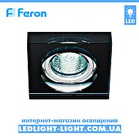 Врезной точечный светильник Feron  8180-2 стекло, черный