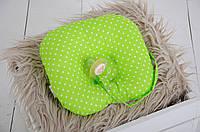 Детская подушка для новорожденных с держателем, салатовая , фото 1