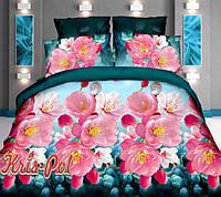 """Комплект постельного белья двуспальный евро """"Цветущий рай""""."""
