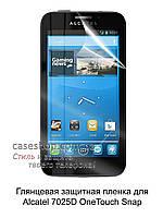 Глянцевая защитная пленка для Alcatel 7025D One Touch Snap