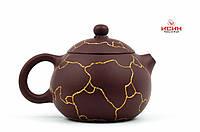 Заварник, Чайник, Исинская глина с инкрустацией золота R3, 220мл, фото 1