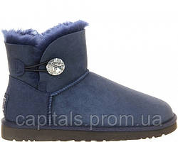 "Женские сапоги UGG Bailey Button Mini ""Bling Blue"""