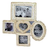 Фоторамка-коллаж на 9 фотографий 45х44 см бежевого цвета