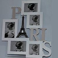 """Фоторамка-коллаж """"Париж"""" на 5 фотографий 50х45 см"""