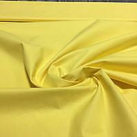 Бязь однотонная желтая ширина 150 см