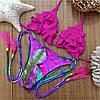 Женский раздельный купальник с декором в расцветках. Ку-7-0317, фото 3