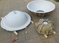 Матрица стеклопластиковая для производства и изготовления мытого бетона