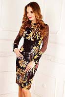 Женское эксклюзивное платье (рр 42-50) с дизайнерским принтом