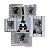 """Фоторамка-коллаж """"Париж"""" на 5 фотографий 39х38 см"""