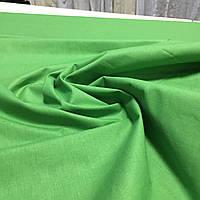 Бязь однотонная зелёная ширина 150 см, фото 1