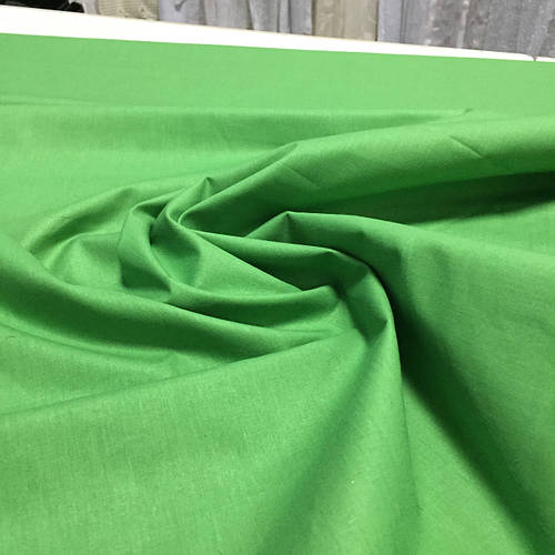 Бязь однотонная зелёная ширина 150 см