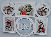 """Фоторамка-коллаж """"Love"""" на 4 фотографий 50х35 см"""