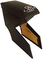 Подлокотник Lada (Лада) ВАЗ 2110-2112 цвет черный с вышивкой VEGA (Вега)